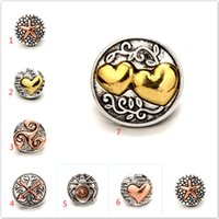 Wholesale mm earrings - Noosa 18 MM Snap Buttons Love Heart Arrow Charms Love Fit Snap Bracelets Necklace Ring Earring Ginger Snap Button