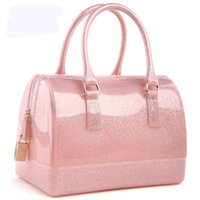 Wholesale new jelly candy pillow top handbag colorful bag