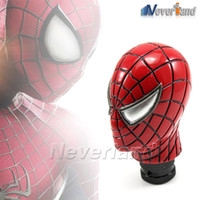 spider gear knob - Hot sale Universal Car Truck Manual Gear Stick Shift Shifter Lever Knob Carved Spider Man Red Metal Ceramic C20
