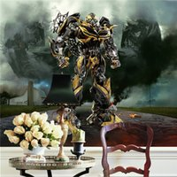Papel de parede personalizado da foto Autobots 3D View Bumblebee Wall Stickers Art Mural Decal Movie Poster Wallpaper Background Bedroom Children Rooms