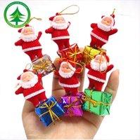 Wholesale Santa Claus Tree Ornaments - 2016 Hot 5 pcs set Christmas tree decoration, Santa claus pendant ornaments, new year decor