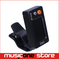 Wholesale Chinese Bass Instruments - ENO ET-31E Erhu Chromatic Clip-on Tuner ENO guitar Tuner Chinese Instrument Black color Free shipping MU0111