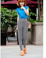 Wholesale Leopard Harem Lady - Wholesale-2015 New Fashion Womens Capris Leopard dot zebra Harem Pants Ice Silk Super elasticity Casual Ladies Leggings