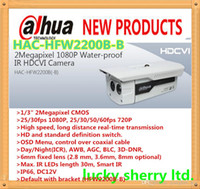Wholesale Long Distance Ir - Dahua HAC-HFW2200B-B High speed long distance real-time transmission OSD IP66 HDCVI IR Bullet Day Night HDCVI camare + Free shipping