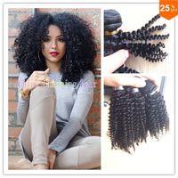 brasilianische jerry curl weben großhandel-reizendes Haar, das lockiges brasilianisches afro-verworrenes gelocktes 3pcs Bündel unverarbeitetes Jerryslocken-menschliches reines Haar gesponnenes böhmisches Haar kämmt