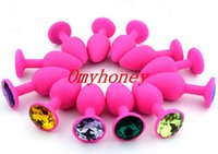 Wholesale Silicon Butt Plugs - Chastity Devices New Pink Color Luxury Silicon Anal Sex Toys Butt Plug,Anal Toys Sex Toys for Women Men, 3 Size to choose , SM006