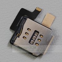 Wholesale Ipad Sim Card Reader - for iPad air 1 for iPad 5 SIM Card Reader Holder Slot Contactor Connector Flex Cable Ribbon Replacement Part