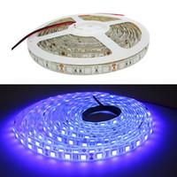 tiras de luz led púrpura impermeable al por mayor-16.4ft 5M UV 395nm 5050 SMD Purple 300 LED Flex Tira de luz impermeable 12V DC