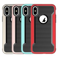 Wholesale Hard Case Gold Iphone - For Iphone X Case Hybrid soft TPU Hard PC Back Cover Phone Case For iphone x 8 8plus