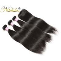 Wholesale Buy Closure - Buy 3 Bundles Get 1 Free Closure Nadula Hair Brazilian Straight Amazing Hair With Closure 4*4 Lace Closure With Bundles Non-Remy Hair