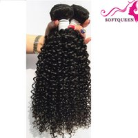 Wholesale Hair Wave Discounts - Biggest Discount 7a Kinky Curly Human Hair 4pcs Indian Curly Hair Extentions Can Be dyed Virgin Hair Indian Deep Wave Culry Hair Queen