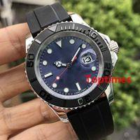 relógios de pulso venda por atacado-Cinza Dial Oysterflex Correia de Borracha Moda 40mm Cerâmica Bezel Mens Relógio de Luxo Da Marca Automática Reloj Mestre Relógios De Pulso Relógios de Negócios