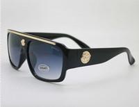 Wholesale cc glasses - 2018 new fashion UV 400 Protection Italy Brand Designer Gold Chain Tyga Medusa Sunglasses Men Women Sun glasses cc