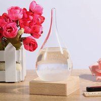 Previsão do tempo Crystal Tempo 17.5 * 8cm Drops Water Shape Storm Glass Weather Predictor Garrafa Christmas Craft Artes Presentes Home Décor mk187