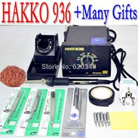 Wholesale Solder Ceramic - Free shipping 220V HAKKO 936 soldering station Electric iron+A1321 ceramic heater core+5pcs iron tip gifts +EU Conversion Plug A2