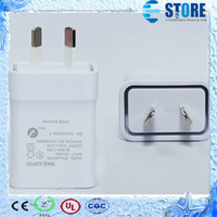 Wholesale galaxy w - Genuine Quality Travel Charger For Samsung Galaxy Note3 N900 S5 w  AU Plug 5.3V 2A Home Wall Adapter
