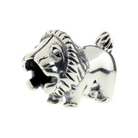 Wholesale King Chain 925 - Beads Hunter Jewelry Authentic 925 Sterling Silver Lion King of the Jungle Charm big hole bead For 3mm European Bracelet snake chain