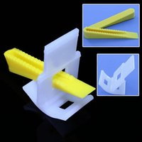 Wholesale Clip Tiles - Wholesale- 100 Tile Leveling System 50 Clips+50 Wedges Tile Leveler Spacers Lippage brand new