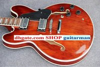 Wholesale 335 Brown - Custom Shop Brown red 335 Guitars hollow body Electric Guitar China guitar wholesale guitars from china