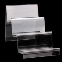 suportes de exposição acrílicos do produto venda por atacado-Acrílico claro Celular U Disk Jóias Titular Display Stand Produtos Digitais Bolsa Wallet Rack Vitrine Organizador