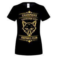 2016 nuova moda estate WOmens Leicester City Premier League Champions 6 costume manica corta camisetas fitness casual t-shirt