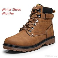 Brown Fur XiaGuoCai Autunno Inverno Uomo Tooling Boots High Top Lace Up Army Stivaletti maschio di alta qualità Martin Stivali calzature da uomo
