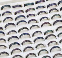 cambio de anillo magico al por mayor-Venta caliente 100 unids Lotes Unisex Mood Rings Increíble Cambio de Color Emoción Sensación 8mm 5mm 6mm Con Caja