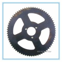 Wholesale 72 teeth H mm mini pocket bike rear sprocket teeth for H chain Factory direct