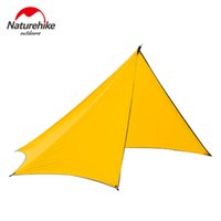 Wholesale Large Camping Tents - Wholesale- Naturehike Outdoor Tent Camping 3-4 Person Large Family Tents Waterproof Beach Quick Built Camping Tents Orange Grey NH15T003-M