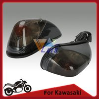 Wholesale Motorcycle Carbon Turn Signals - Motorcycle Amber Rear Turn Signal Light Flush Mount Indicator Lamp For Kawasaki Ninja EX 250 1988-2013 Carbon fiber look order<$18no track