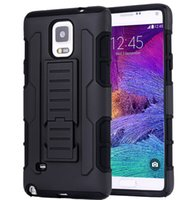 Wholesale Iphone5 Hybrid - Black Impact Rugged Hybrid Case For iphone5 6 6 plus Heavy Duty Kickstand Clip Armor Hard Back Cover For Samsung galaxy s6