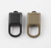 Wholesale Railings Steel - GBB magaipuoutdoor Airsoft Rail Steel Swivel Sling Buckle Attachment Mount Black Large Shooting Fit 2th 3th Generation Multi Mission Sling