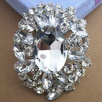 Grande Cristal De Cristal De Casamento De Luxo Bouquet Broche Moda Hijab Wear Pin Para Mulheres Hot Selling Wholesale Jewelry Broaches