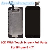 Wholesale Iphone Full Front Lcd - Top Quality LCD Screen With Full Set Front Parts Facing Camear Earpiece Home Button Completed Screen Assembly For iPhone 6 4.7inch