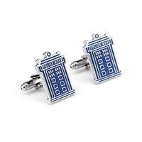 Wholesale Copper Police - Doctor Who POLICE BOX cufflinks for mens copper cufflink wedding Cuff Link Fashion Jewelry Best Xmas Gift W389