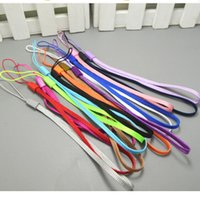 Wholesale Mp3 Mp4 Wrist - Universal Colorful Necklace Lanyard Hand Straps Nylon Short Hang Wrist Ropes for Ipad Cell Phone MP3 MP4 Camera ID Card Badge