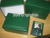 Barato Caixa De Jóias De Couro Verde-Hot Sell Luxury Original Watch Box Card Card Top Brand Gift Jóias Pulseira Bangle Display PU Leather Green Storage Case Pillow