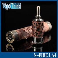 Wholesale Ego Fire - smokjoy wood atomizer 4.5ml tank nfire LA4 Airflow electronic cigarette n fire la4 ego vapor hollow tank