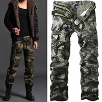 Wholesale Men S Work Pants - Men's Casual Cotton Military Army Cargo Camo Combat Work Pants Trousers R50 Asian Tag Size 28-38 (No Belt)