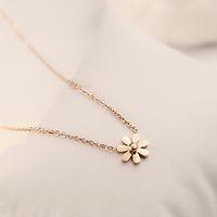 Wholesale Good Luck Crystal Necklace - Hot Sale Sparkling Good Luck gold Pendant flower necklace Elephant golden 14k Statement Pendant Necklace for Women chain necklace