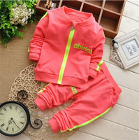 Wholesale Yellow Clothes For Baby Boy - Brand children boy casual Tracksuits Infant outfits kids clothing sets boy sport suit for children , baby boy Sport suit