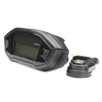 Wholesale Motorcycle Speedometer Sensor - High quality Motorcycle LCD Digital Speedometer Odometer 7 color adjustable Backlight motorcycle computer Odometer+speed sensor
