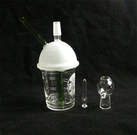 x evol glas großhandel-SANDBALASTED DABUCCINO STARBUCKS GLASBLASE ÖL RIG Dab Concentrate Ölplattform HITMAN GLAS X EVOL GLAS DABUCCINO INSPIRED CUP RIG