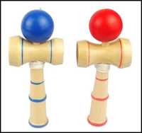 Wholesale japanese balls - 13CM small size Kendama Ball Japanese Traditional Wood Game Toy Education Gift red blue Colors novelty toys gift J071503