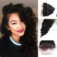 Wholesale Indian Wavy Hair For Cheap - Filipino virgin loose wave wavy lace frontal closure 13x4 for african american cheap frontal virgin hair closures G-EASY free shipping