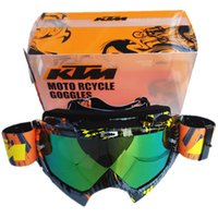 Wholesale Dirt Motocross Motorcycle - 2017 New Arrival KTM Motorcycle Goggles Professional KTM Motocross Helmet Racing Glasses Dirt Bike ATV MX Goggles