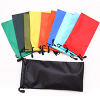 Wholesale Wholesale Optical Bags - Wholesale-11 PCS Reading Sunglasses Bag Pouch Soft Cloth Cleaning Optical Glasses Case Eyewear Box