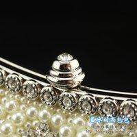 Wholesale Dinner Dance - Fashion pearl diamond Dinner Bag hand bag lady dance party diamond chain single shoulder bag