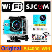 Wholesale novatek action camera resale online - Original SJCAM SJ4000 WiFi P HD Camera Mini Camcorders Action Sport Camera Waterproof Novatek Inch Degree m Free DHL
