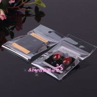 Wholesale Earring Cards Bags - 3.7*5.2cm Hot Sale Earrings Packing Flannelette Cards With Plastic Bag Earring Display Packing Card Wholesale Free Shipping 0018PACK